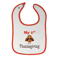 Cloth Bibs for Babies My First Thanksgiving Baby Accessories Burp Cloths Cotton - Cute Rascals
