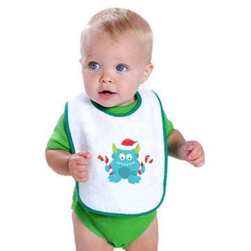 Cloth Bibs for Babies Blue Monster Lollipop Characters Monsters Baby Accessories