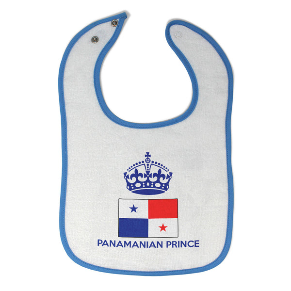 Baby Boy Bibs Panamanian Prince Crown Countries Burp Cloths Contrast Trim Cotton - Cute Rascals