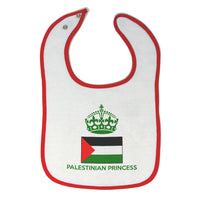 Cotton Toddler & Baby Girl Bibs Palestinian Princess Crown Countries