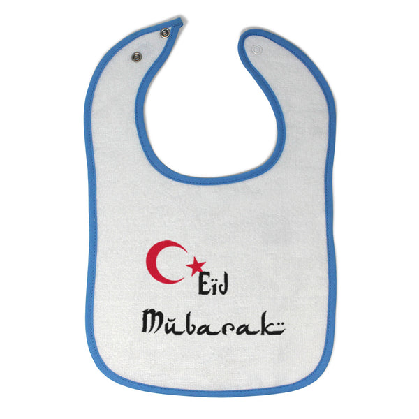 Toddler & Baby Bibs Eid Mubarak Blessed with Turkish Flag Arabic