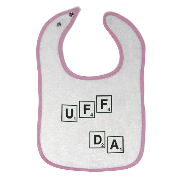 Cloth Bibs for Babies Scrabble Uff Da Funny Humor Baby Accessories Cotton