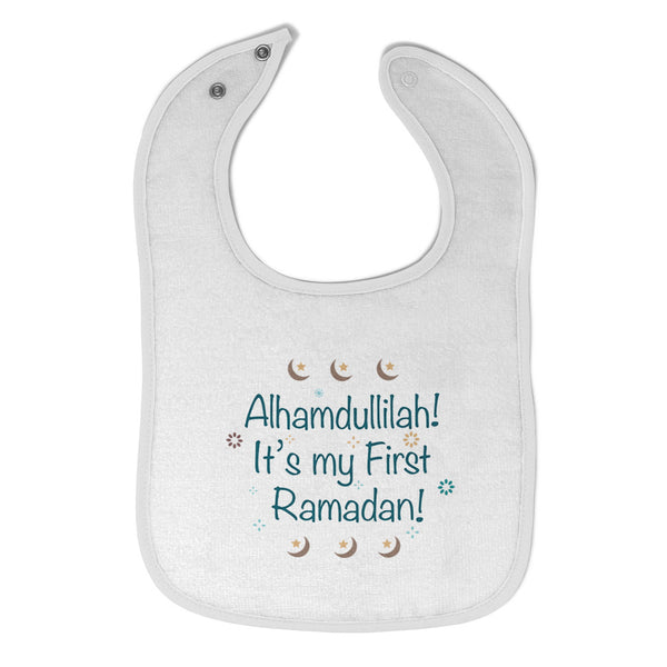 Cloth Bibs for Babies Alhamdullilah It's My First Ramadan Arabic Cotton - Cute Rascals