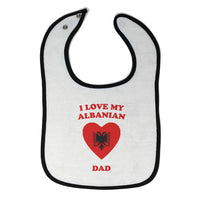Cloth Bibs for Babies I Love My Albanian Dad Countries Baby Accessories Cotton