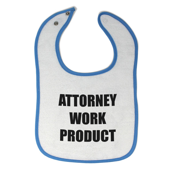 Cloth Bibs for Babies Attorney Work Product Style F Funny Humor Baby Accessories
