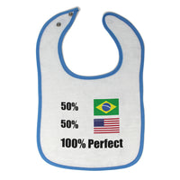 Cotton Toddler & Baby Bibs 50% Brazilian American 100% Perfect #1