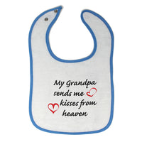 Toddler & Baby Bibs My Grandpa Sends Me Kisses from Heaven Grandfather