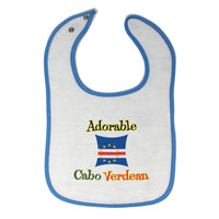 Cloth Bibs for Babies Adorable Cabo Verdean Cape Verde Baby Accessories Cotton