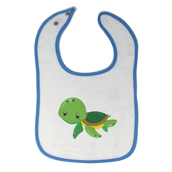 Toddler & Baby Bibs Green Turtle Animals Ocean Items for Girl Boy