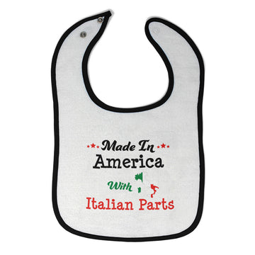 Cotton Toddler & Baby Bibs Made in America with Italian Parts A