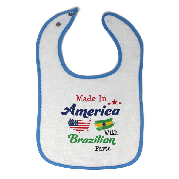 Cotton Toddler & Baby Bibs Made in America with Brazilian Parts A