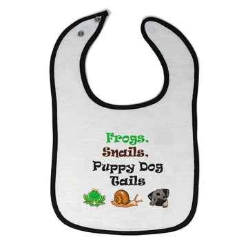 Toddler & Baby Bibs Frogs Snails Puppy Dog Tails Funny Wsp, Wlb, Wb, W