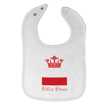 Baby Boy Bibs Polish Prince Crown Countries Prince Burp Cloths Contrast Trim