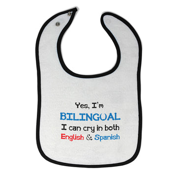 Cloth Bibs for Babies Yes I'M Bilingual Can Cry in Both English & Spanish Baby