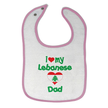 Toddler & Baby Bibs I Love My Jordanian Dad Style B Items for Girl Boy