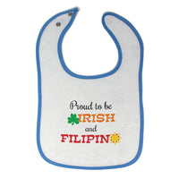 Toddler & Baby Bibs Proud to Be Irish and Filipino Items for Girl Boy