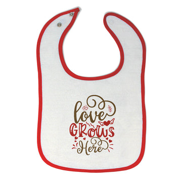 Cloth Bibs for Babies Love Grows Here Baby Accessories Burp Cloths Cotton
