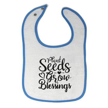 Cloth Bibs for Babies Plant Seeds Grow Blessings Baby Accessories Cotton
