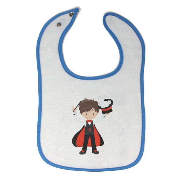 Toddler & Baby Boy Bibs Magician Magic Hat Bunny Professions