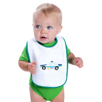 Cloth Bibs for Babies Police Car Professions Police Officer Baby Accessories