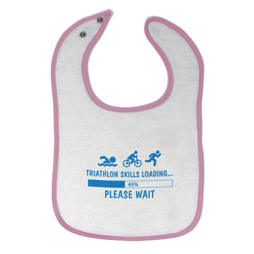 Cloth Bibs for Babies Triathlon Skills Loading Baby Accessories Cotton
