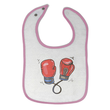 Cloth Bibs for Babies Boxing Gloves Sports Boxing Baby Accessories Cotton
