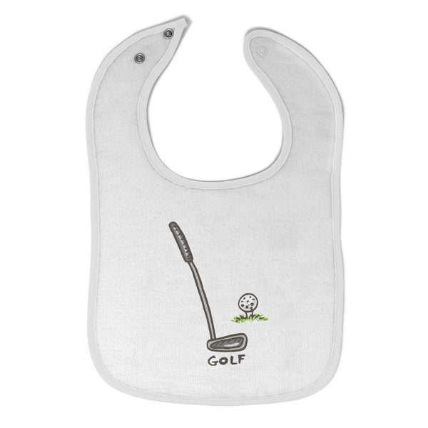 Cloth Bibs for Babies Golf Set Sports Golf Baby Accessories Burp Cloths Cotton - Cute Rascals