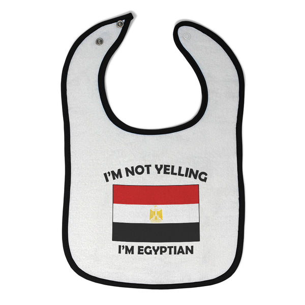 Cloth Bibs for Babies I'M Not Yelling I Am Egyptian Egypt Countries Cotton