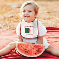 Toddler & Baby Bibs I'M Not Yelling I Am Algerian Algeria Countries