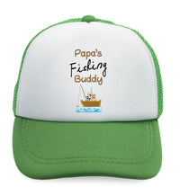 Kids Trucker Hats Papa's Fishing Buddy Dad Father's Day Boys Hats & Girls Hats - Cute Rascals