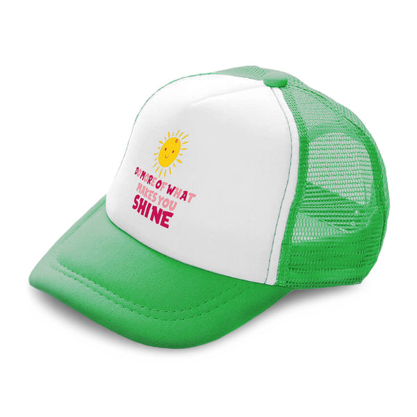 Kids Trucker Hats Do More of What Makes You Shine Sun Boys Hats & Girls Hats - Cute Rascals