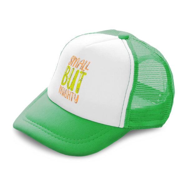Kids Trucker Hats Small but Mighty B Boys Hats & Girls Hats Baseball Cap Cotton - Cute Rascals