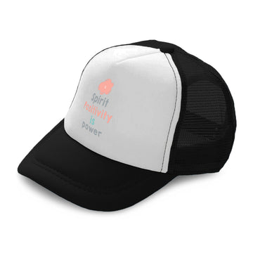 Kids Trucker Hats Spirit Positivity Is Power Boys Hats & Girls Hats Cotton