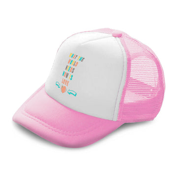 Kids Trucker Hats What The World Needs Now Is Love Boys Hats & Girls Hats Cotton