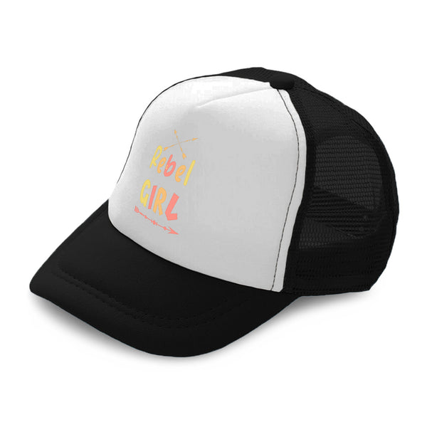 Kids Trucker Hats Rebel Girl Arrow Boys Hats & Girls Hats Baseball Cap Cotton - Cute Rascals