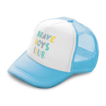 Kids Trucker Hats Brave Boys Club Boys Hats & Girls Hats Baseball Cap Cotton
