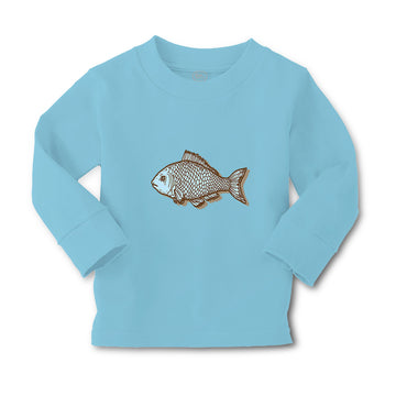 Baby Clothes Fish Blue Dry Animals Ocean Sea Life Boy & Girl Clothes Cotton