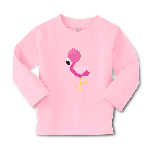Baby Clothes Dark Pink Flamingo Leg up Close Eyes Boy & Girl Clothes Cotton - Cute Rascals