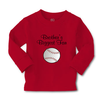 Baby Clothes Brothers Biggest Fan Baseball Ball Game Boy & Girl Clothes Cotton