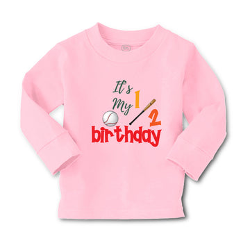 Baby Clothes It's My Half Birthday Baseball Sports Baseball Boy & Girl Clothes