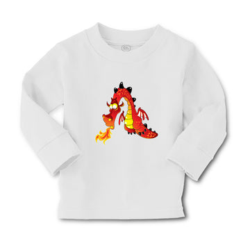 Baby Clothes Dragon Fire Breast Cartoon Character Boy & Girl Clothes Cotton