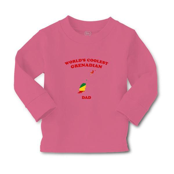 Baby Clothes Worlds Coolest Grenadian Dad Countries Boy & Girl Clothes Cotton - Cute Rascals