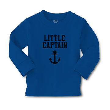 Baby Clothes Little Captain Silhouette Ship Anchor Boy & Girl Clothes Cotton