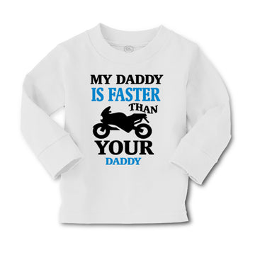 Baby Clothes My Daddy Is Faster than Your Daddy Car Racing Dad Father's Day