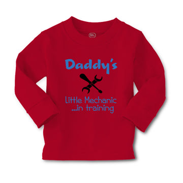 Baby Clothes Daddy's Little Mechanic in Training Dad Father's Day Cotton