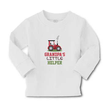 Baby Clothes Grandpa's Little Helper Boy & Girl Clothes Cotton