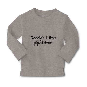 Baby Clothes Daddy's Little Pipefitter Welder Dad Father's Day B Cotton