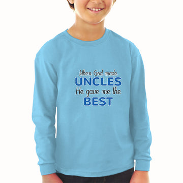 Baby Clothes When God Made Uncles He Gave Me The Best Boy & Girl Clothes Cotton