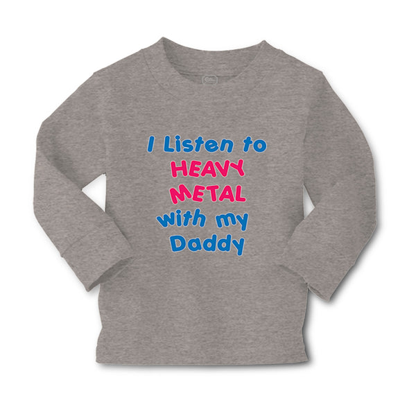 Baby Clothes I Listen to Heavy Metal with My Daddy Dad Father's Day Cotton - Cute Rascals
