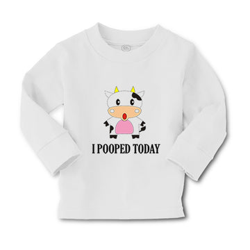 Baby Clothes I Pooped Today Style A Funny Humor Boy & Girl Clothes Cotton